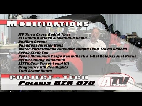 Installing Trail Armor Doors on Polaris RZR 570 - ATVTV Tech Video