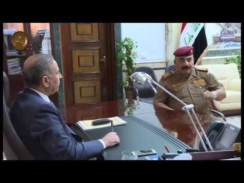 خالد العبيدي يستقبل قائد عمليات غرب بغداد ويبحث معه تسهيل إجراءات إعادة العوائل الى الفلوجة