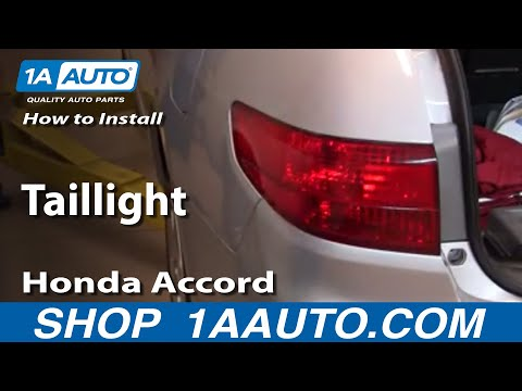 How To Install Replace Taillight Honda Accord Sedan 4 door 03-05 1AAuto.com