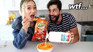 Trying Weird Food Combinations People Love w/ Josh Peck! by Alisha Marie