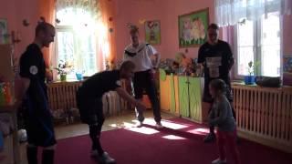 Wizyta piłkarzy w Przedszkolu Miejskim nr 8 w Gliwicach