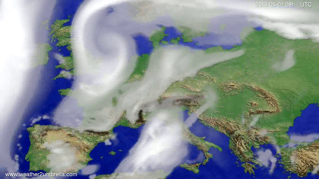 Cloud forecast Europe 2018-04-28