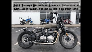 7. 2017 Triumph Bonneville Bobber in Ironstone with Mini Apes Walk Around by Nate @ Frontline