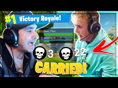 Jake Paul Carries Summit1g On Fortnite!?