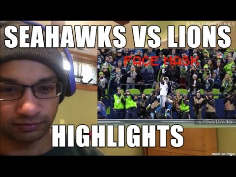 Seattle Seahawks vs Detroit Lions 1.7.2017 Highlights- Wild Card NFL Playoffs (REACTION) (видео)