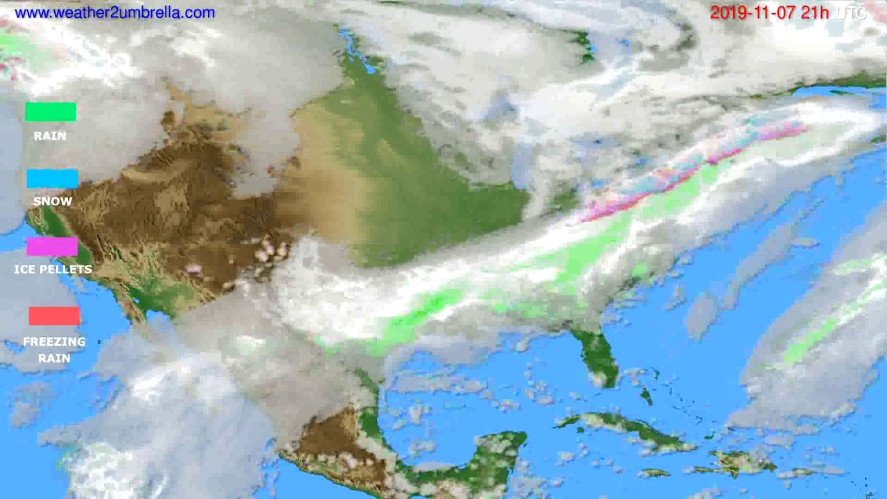 Precipitation forecast USA & Canada // modelrun: 00h UTC 2019-11-06