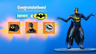 The BATMAN EVENT FREE REWARDS in Fortnite..