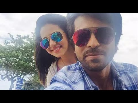 Ram Charan's Selfie With Rakul Preet Singh During Shoot...!!!