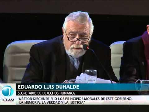 """Eduardo Luis Duhalde: """"Hay un fuerte avance en la construcción de la memoria colectiva"""""""