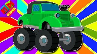 Video Learn Colors With Vintage Monster Trucks | color Vehicles Video For Kids | cartoon about cars MP3, 3GP, MP4, WEBM, AVI, FLV Mei 2017