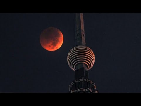 "Rare ""blood Moon"" Eclipse Dazzles Viewers"