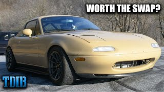 K24 Swapped Mazda Miata Review! Is a K-Swap Really Worth It? by That Dude in Blue