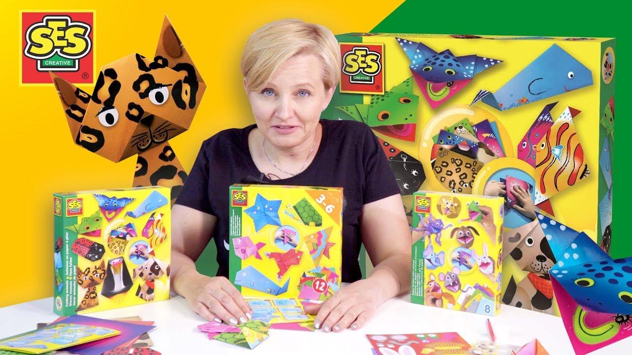 Zwierzątka origami - Zabawka kreatywna, SES Polska