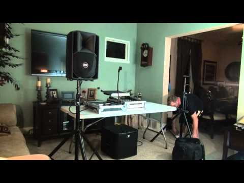Set Up Test - The DJ Micro System's PA