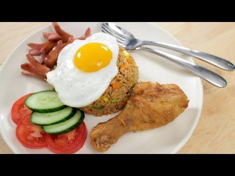 American Fried Rice Recipe ข้าวผัดอเมริกัน - Hot Thai Kitchen!