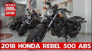 3. Details Honda Rebel 500 ABS 2018 | 2018 Honda Rebel 500 ABS two-cylinder | MOTO INTRODUCTION
