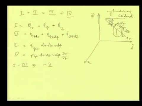 Mod-01 Lec-02 Allgemeine Wärmeleitungsgleichung