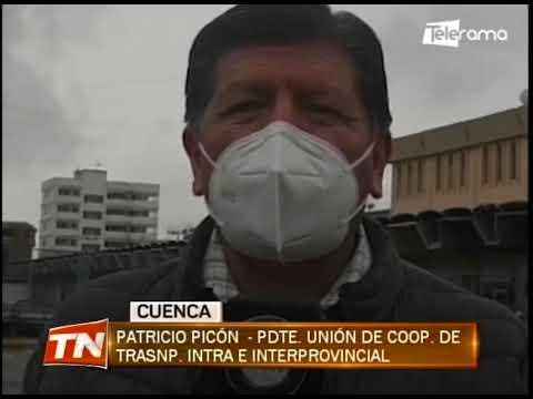 Cuenca amaneció sin servicio del transporte intra e inter provincial