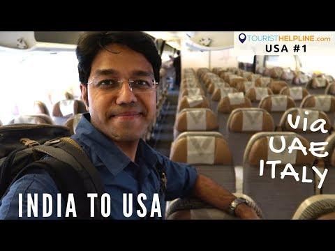 India to USA : My trip begins (видео)