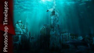 Leicester Underwater - Photoshop Timelapse