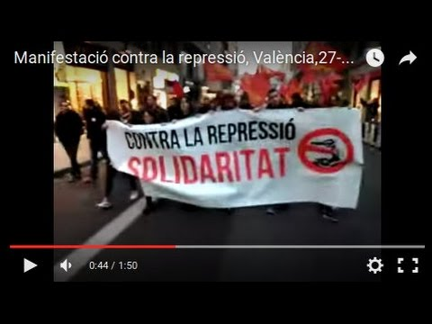 Manifestació contra la repressió –  València – 27-2-16