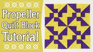 Quilting Block Tutorial: Propeller Quilt BlockIn this video tutorial, we show you how to create the propeller quilt block. This is a quick one to put together and it looks great.--FULL WRITTEN INSTRUCTIONS--http://www.alandacraft.com/quilt-blocks-propeller-quilt-block-tutorial---WATCH MORE QUILT BLOCK TUTORIALS HERE---https://www.youtube.com/playlist?list=PLMxvvtt3Z3CKZx04rEe8Vod1SP1EX767l---FOLLOW US ON---Website: http://www.alandacraft.comFacebook: http://www.facebook.com/alandacraftPinterest: http://www.pinterest.com/alandacraft/Instagram: http://instagram.com/alandacraftTwitter: http://twitter.com/AlandaCraftTumblr: http://www.tumblr.com/blog/alandacraft