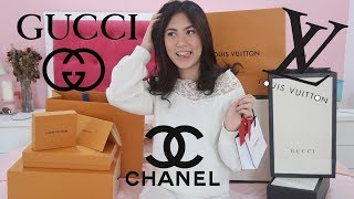 Video UNBOXING LUXURY BRANDS BIRTHDAY HAUL!! | Zahra Sabira MP3, 3GP, MP4, WEBM, AVI, FLV Juli 2019