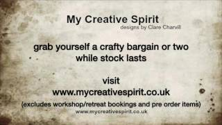 Hi Everyone, our 20% off Summer Sale starts Sunday 16th July 2017.  Visit www.mycreativespirit.co.uk and grab yourself a crafty bargain or two :-) C