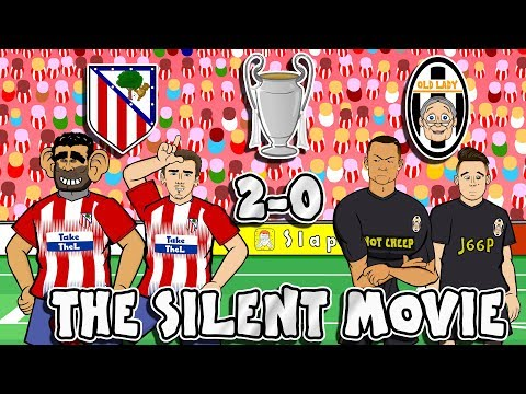 😂Atletico Madrid vs Juventus: The Silent Movie😂 (2-0 Parody Goals Highlights Champions League 2019)