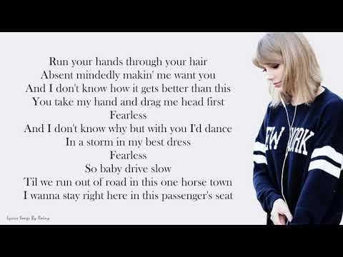 Taylor Swift - Fearless   Lyrics Songs