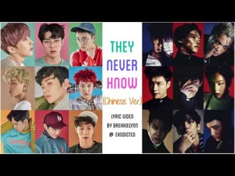 , title : 'EXO - They Never Know (Chinese Ver.) [Color Coded Chi/Pinyin/Eng Lyrics]'