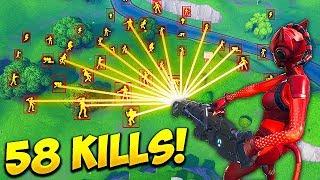 *HACKER* GETS 58 KILLS SOLO! - Fortnite Funny Fails and WTF Moments! #447