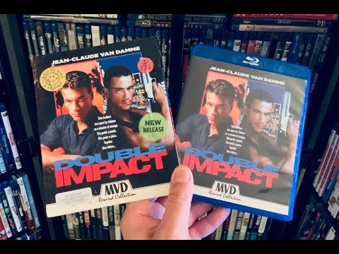 Double Impact BLU RAY REVIEW + Unboxing - MVD Rewind Collection