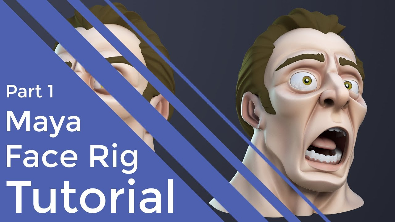 creating 3d facial rig maya tutorial