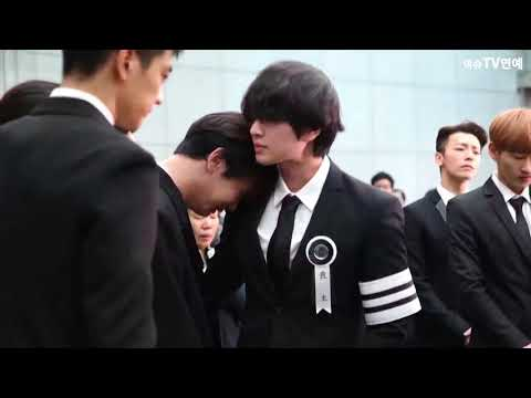 The Late Jonghyun Shinee Member 'onew -  Kee - Minho  - Taemin' Tearful Whisper Procession