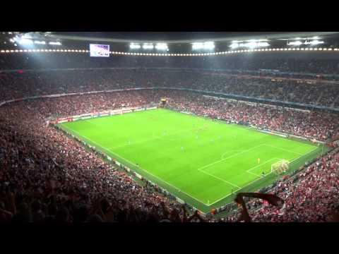 CL バイエルンvsシティ ゴール後のスタジアム