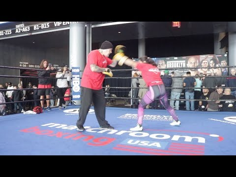 LONGEST REIGNING FEMALE CHAMP! IBF WORLD CHAMPION VICTORIA BUSTOS **COMPLETE WORKOUT**