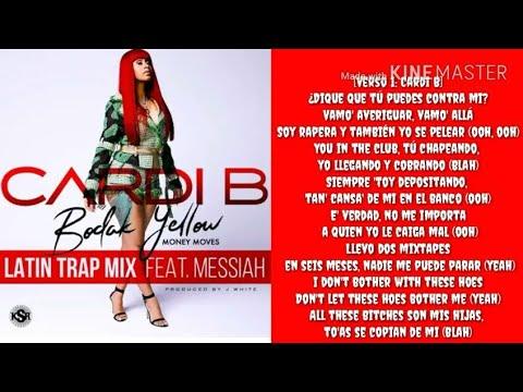 Cardi B- Bodak Yellow (Latina Trap Remix) (Lyrics)