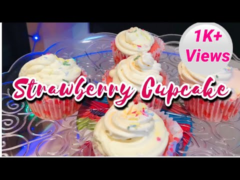 Strawberry Cupcake | Quick recipe of moist & fluffy cupcake