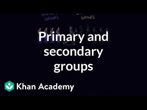 what is a primary group