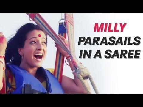 Milly Parasails In A Saree | Honeymoon Travels Pvt Ltd | Raima Sen | Kay Kay Menon