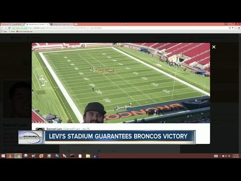 Super Bowl Grounds Crew Paints Both End Zones For Broncos
