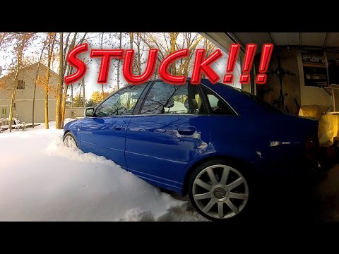 500 hp Audi S4 quattro vs 13″+ of fresh snow part II! Unstoppable…ALMOST
