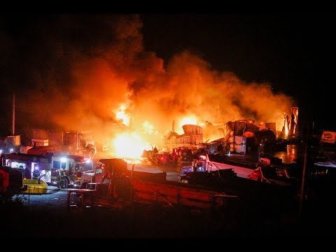 Large Warehouse Destroyed by Fire; Sunday, September 16, 2018