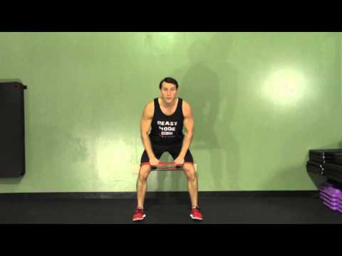 Band Abductor Squats – HASfit Glute Exercises – Butt Exercise