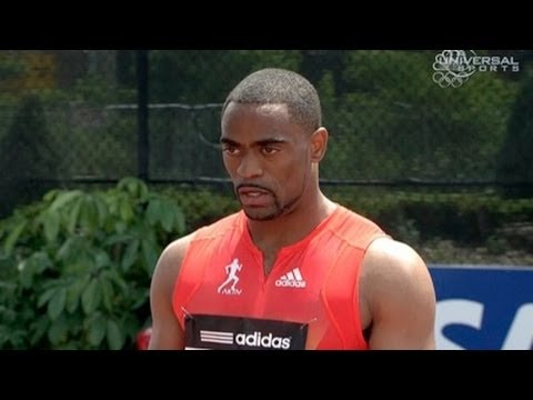 Tyson Gay first race back and wins 100m with 10.0 at 2012 adidas Grand Prix