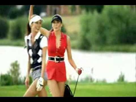 Ladies play golf.flv
