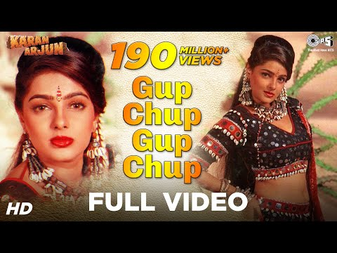 Gup Chup Gup Chup Full Song - Karan Arjun | Mamta Kulkarni | Alka Yagnik & Ila Arun
