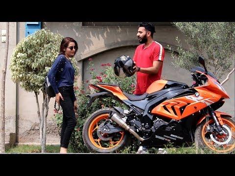 PICKING UP UBER RIDERS ON A BMW HEAVY BIKE PRANK  Haris Awan