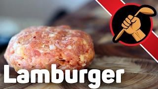 Ламбургер. Рубленная котлета из ягнёнка. Lamburger